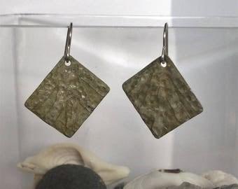 Sun Ray Rectangle Nickel Earrings