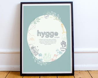 Hygge Definition - Art Print, Hygge Design, Hygge Sign, Hygge, Scandinavian Poster, Scandinavian Design, Housewarming Gift, Our First Home,