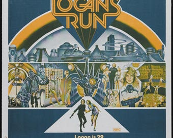 Logan's run Michael York cult sci fi movie poster reprint 19x12.5 inches