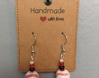 Baseball earrings