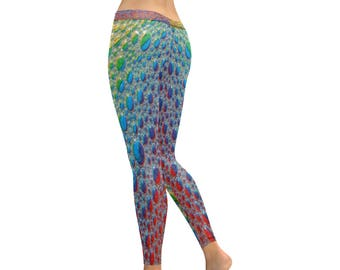 Rainbow Drops Leggings- Women