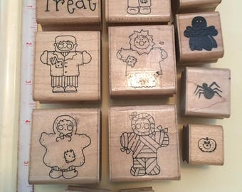 CTMH Halloween rubber stamps