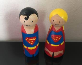 Superhero Peg dolls • wooden toys