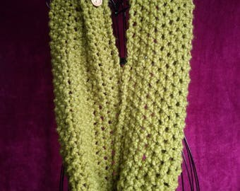 Moss stitch cowl