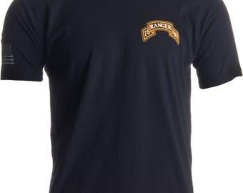 75th Ranger Regiment & Sleeve Flag | Military US Army Infantry Veteran T-shirt