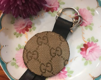 Gucci keychain, purse charm, from up cycled from Authentic Gucci handbag