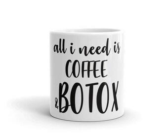 Coffee & Botox Mug - injectables, facial filler, filler, botox