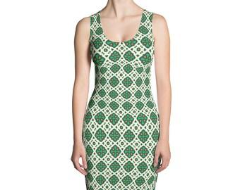 Greenish,Sublimation Cut & Sew Dress,Prinful, Hand Sew, USA