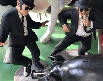 Figures Blues Brothers 80 cm high Dan Aykroyd and John Belushi decoration