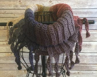 Fun, Colorful Crocheted Cowl