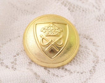 metal buttons 10pcs 18*10mm gold round shank buttons vintage buttons embossed buttons