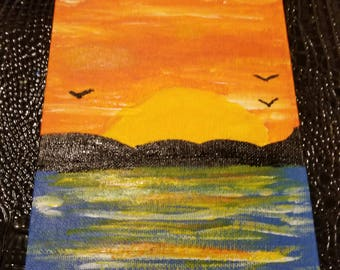 Sunset Acrylic Paint