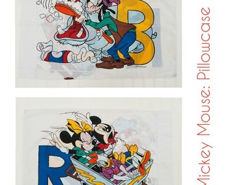 Vintage Mickey Mouse Pillowcase