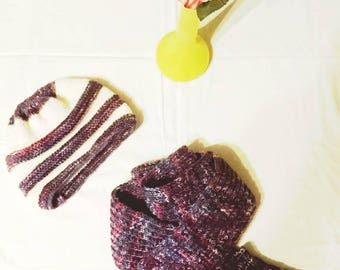 Warm and cosy winter hat and scarf