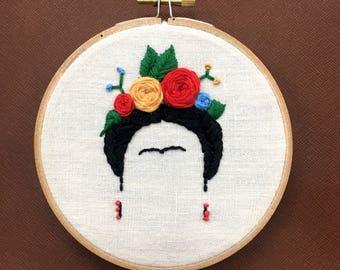 Frida Kahlo Embroidery Hoop