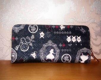 alice in wonderland inspired purse wallet