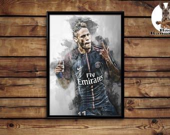 Neymar poster wall art home decor print