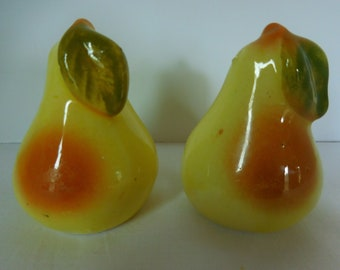Vintage Pear Shaped Ceramic Salt and Pepper Shakers