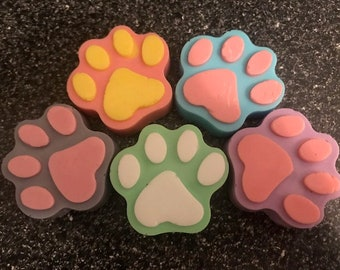 Homemade - Two tone Paw Print Soap
