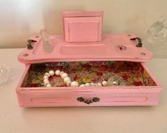 Refinished Vintage Jewelry/Valet Box