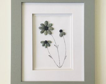 Pebble Art - Flowers Blooming