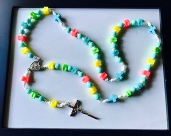 Child's Owl Bead Rosary