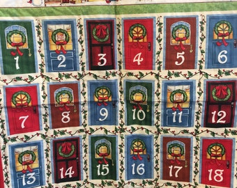 Fabric Advent Calendar Wall Hanging