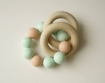 Pastel Double Ring Rattle/ Sensory Ring