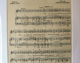 MOUNTED SHEET MUSIC - Relax-Ay-Voo