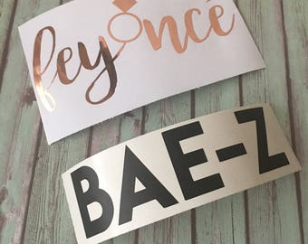 Feyonce & Bae-Z Rose Gold and Black Vinyl Decals