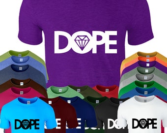 Dope Diamond Mens T-Shirt Hype Hipster Swag Womens Top Tee T Shirt