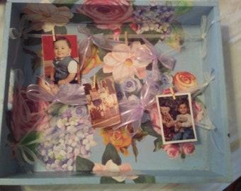 Handmade Picture Frame - Cloths line box