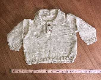 beautiful hand knitted baby jumper