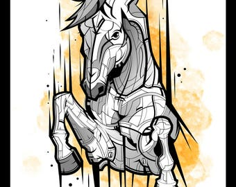 Horse Vector Illustration by MouCreations