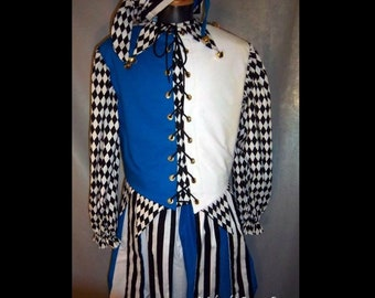 MADE TO ORDER Renaissance Court Jester Costume, Men or Women, Your Size!