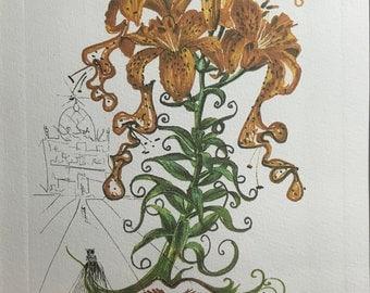 Salvador Dalí lithograph-hand-signed-artist's Test