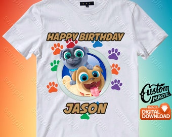Puppy Dog Pals Iron On Transfer, Puppy Dog Pals Birthday Shirt DIY, Puppy Dog Pals Printable, Puppy Dog Pals, Personalize, Digital Files