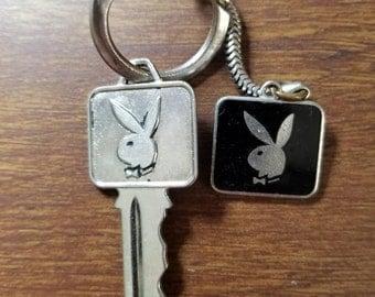Vintage Playboy Club Key and Keychain