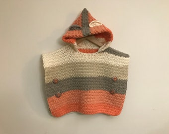Colourful poncho age 2-3 years