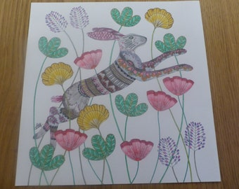 Spring Hare coloured by Annie (Millie Marotta)