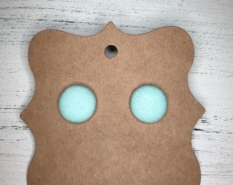 Mint earrings, button earrings,
