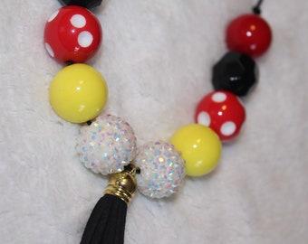 Chunky Bubblegum Necklace - Disney