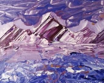 Purple Composition Landscape Print