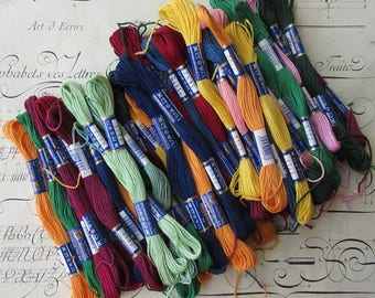 Czech Republic 56 New Skeins Embroidery Floss 6 Strand Skeins 100% Cotton 8 Meters Long