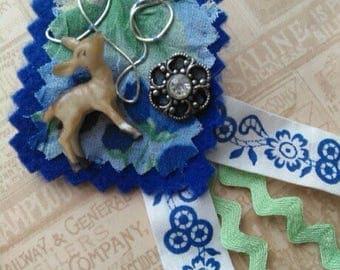 Darling Deer Vintage Inspired Brooch Pin