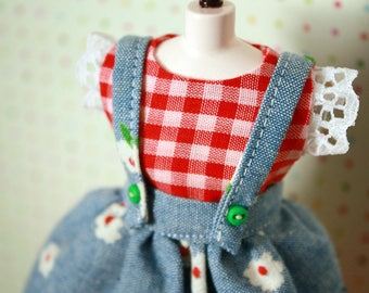 Down On The Farm / Pinafore and Dress Set for Blythe