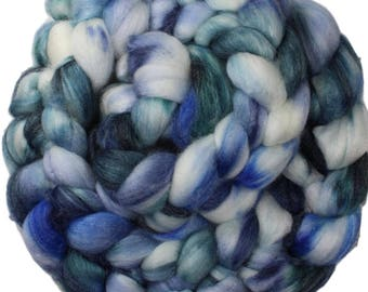 Song of the Sea - hand-dyed superwash Merino, bamboo, nylon (4 oz.) combed top