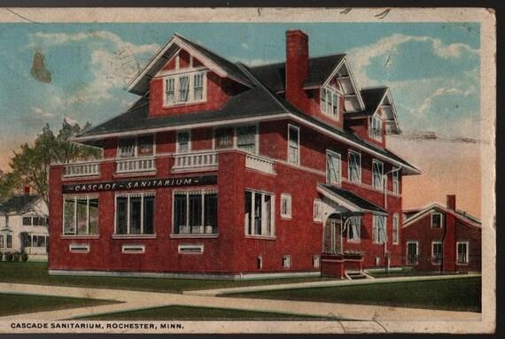 Cascade Sanitarium - Rochester, Minnesota - 1918 - Vintage Linen Postcard