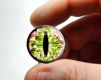 Glass Eyes - Forest Reaper Dragon Taxidermy Eye Cabochons - Pair or Single - You Choose Size