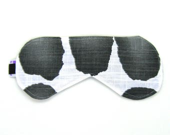 Sleeping Eye Mask / Night Eye Mask / Travel Eye Mask / Sleep Mask - Black Watercolor